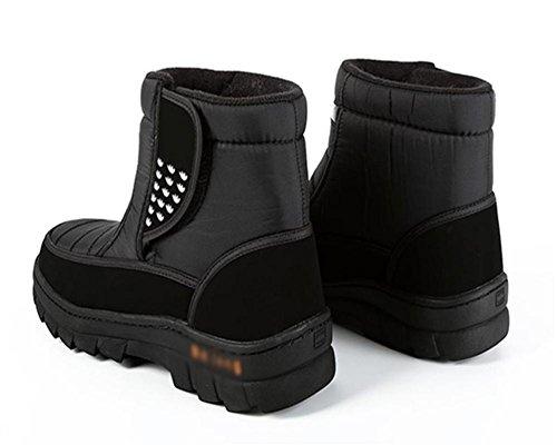 44 W Antiscivolo da 44 Caviglia neve Gomma Boots All'aperto amp;XYStivali Uomo black Peluche Invernali wHPYxwTqr