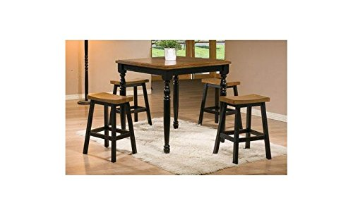 Winners Only, Inc. Quails Run 5-Pc Pub Dining Set in Almond and Ebony Finish -