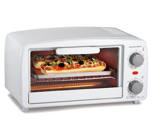 Proctor Silex 4 slice Toaster Oven, White by Proctor Silex (Proctor Silex Toaster Oven Pan compare prices)