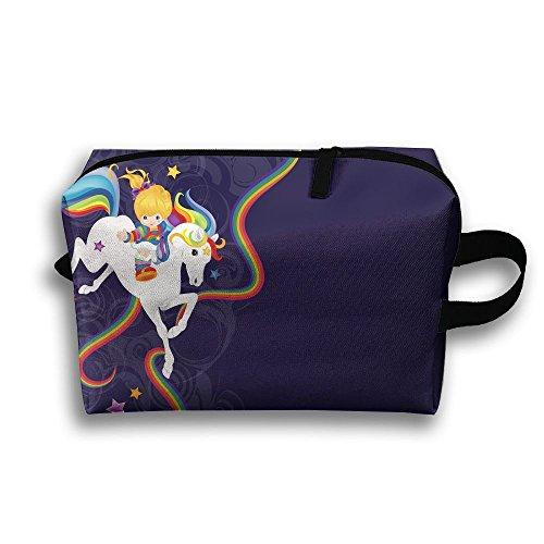 Rainbow Brite And Starlite Memories Travel Bag Cosmetic Bags Brush Pouch Portable Makeup Bag Zipper Wallet Hangbag Pen Organizer Carry Case Wristlet Holder
