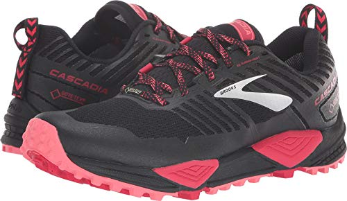 Brooks Women's Cascadia 13 GTX Black/Pink/Coral 8 B US B (M)