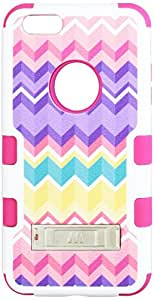 MyBat iPhone 6 Plus Camo TUFF Hybrid Protector Cover with Stand - Retail Packaging - Pink