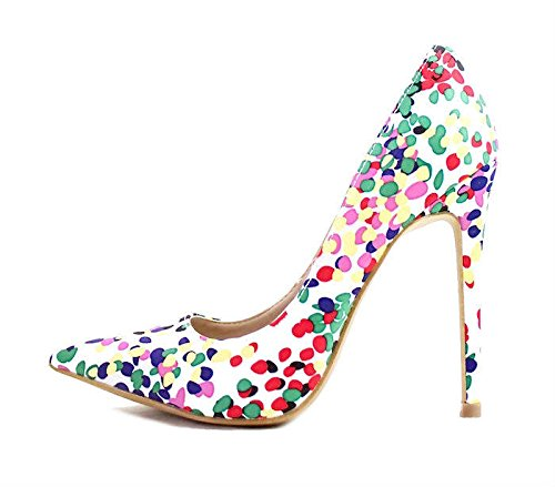 (Shoe Republic Womens Savage Vermeer Pointy Toe High Heels Stiletto Pumps Shoes (6.5, Multi (Brenda)))