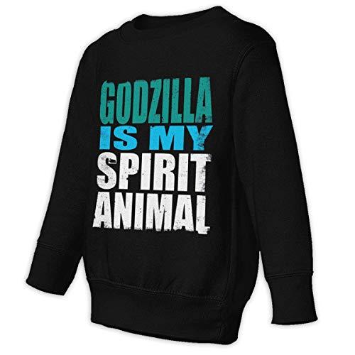 - Yuliang Godzilla is My Spirit Animal Girl Fashion Sweater 4T Black