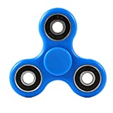 FidgetKool Fidget Toys Spinning & Spinner Top Relieves Your Adhd/Anxiety & Boredom Gifts Blue & Black Novelty