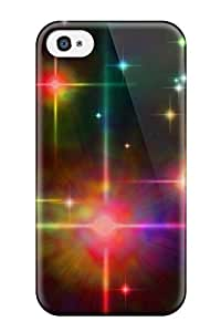 New Premium Flip Case Cover Bright Starscape Skin Case For Iphone 4/4s