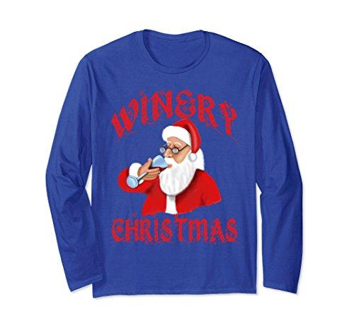 Unisex Storecastle: Winery Christmas Wine Santa Gift T-Shirt 2XL Royal Blue