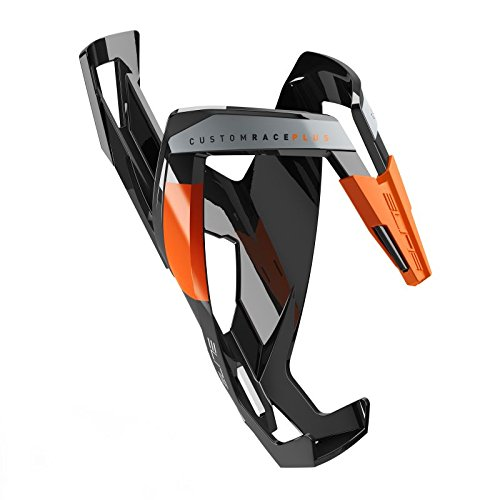 Elite Water Bottle Cages - Elite Custom Race Plus Skin Cage Glossy Black/Orange