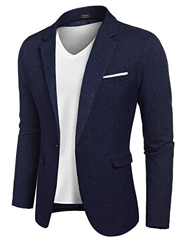 - COOFANDY Mens Slim Fit Premium Stylish Suit Coat Jacket Modern Business Blazers