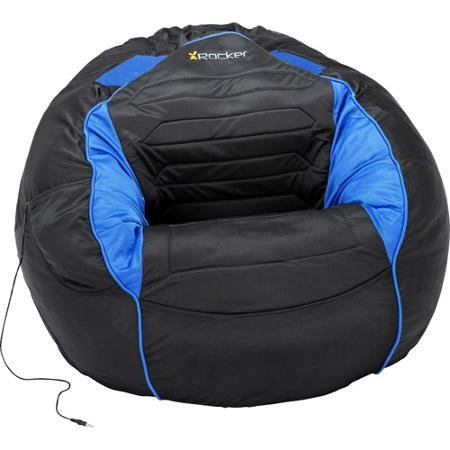 Stylish Blue and Black Bean Bag Sound Chair Perfect For The Gamer In Your Home (3) by Kahuna