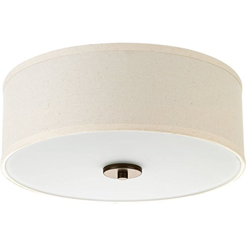 Progress Lighting P3713-20 Inspire Two-Light Flush Mount, Antique Bronze