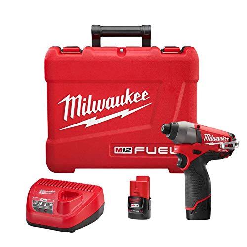 Milwaukee 2453-22 M12 Fuel 1/4 Hex Impact Driver Kit W/2 Bat