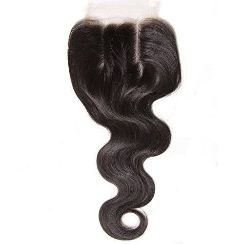 Beauty Forever Hair Brazilian Virgin Hair 1 Piece 3 Part Body Wave 44 Lace Closure 100 Unprocessed Human Hair Extensions Natural Color 30-35g/pc