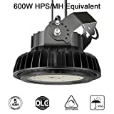Adiding LED High Bay Light, 150W Replace 600W HID/HPS UFO High Bay Lighting 1-10V Dimmable Driver 19,500 Lumens 5000K Daylight for Garage Gym Workshop Warehouse,DLC ETL Listed (Rot