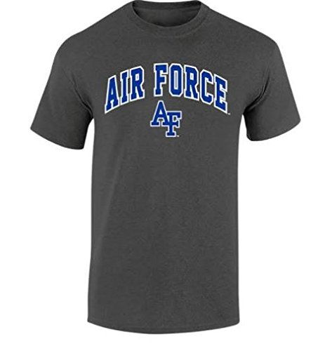 Elite Fan Shop NCAA Men's Air Force Falcons T Shirt Dark Heather Arch Air Force Falcons Dark Heather ()