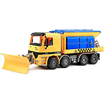 Click N' Play Friction Powered Jumbo Snow Removal Plow Truck Construction Toy Vehicle for Kids