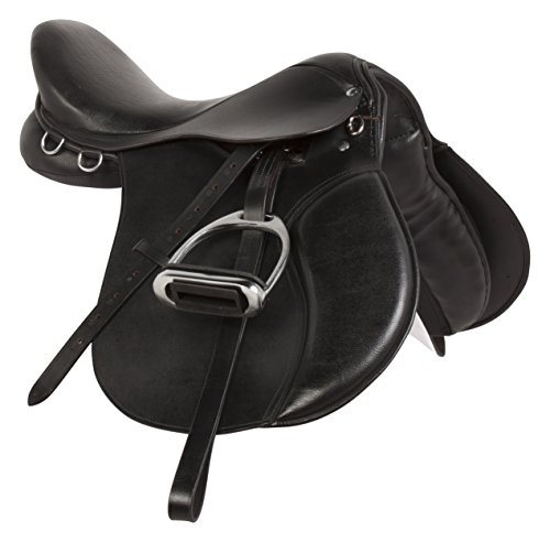 English Saddle Package (BLACK ALL PURPOSE PREMIUM PLEASURE JUMPING ENGLISH LEATHER HORSE SADDLE PACKAGE (16))