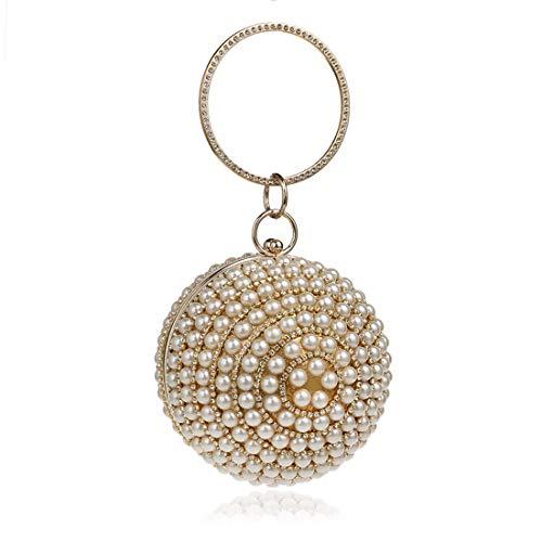 Perlée Perlé Perles De Soirée Pochette Pour Mariage Sacs color Sac Parti Femmes Silver Cijfay Mariée Gold Vintage D'embrayage z5tqwA15x