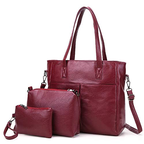 Messenger A Luckyccdd Femminile Red 3 Set Purse gold Borsa Borse Moda Mano Di PXuOikZT