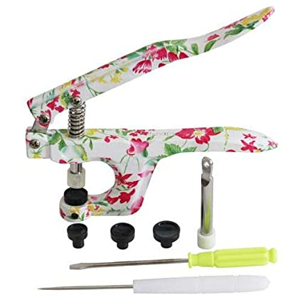 Floral KAMsnaps Hand Pliers Press Tool for Plastic Snaps Size 20, 22, 24  Punch Poppers Button Snap Fastener Press Attacher for KAM Snaps (NOT