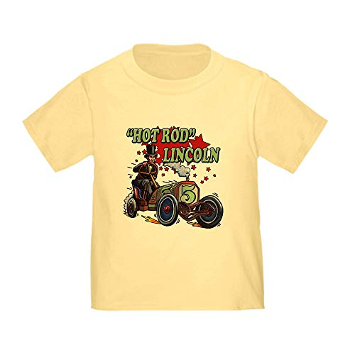 CafePress Hot Rod Lincoln T Shirt Cute Toddler T-Shirt, 100% Cotton Daffodil Yellow -