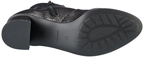 Nr Rapisardi Dames I1100 Biker Boots Black (zwarte Tinnen Stardust)