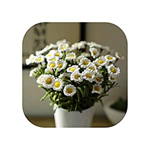 Sweet*love 10Pcs Artificial Daisy Simulation Flower Small Daisy Plastic Flower Wedding Decoration Home Furnishings Pe Simulation Flower 91