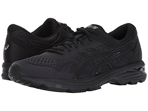 ASICS Men's GT-1000 6 Running-Shoes, Black/Black/Silver, 14 4E US
