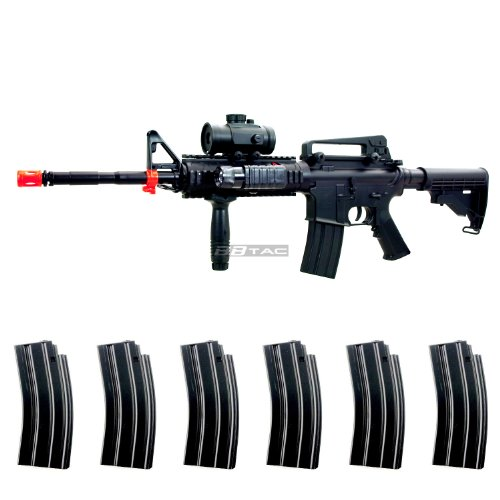 (BBTac M83 Full Auto Electric Power LPEG Airsoft Gun with Warranty)