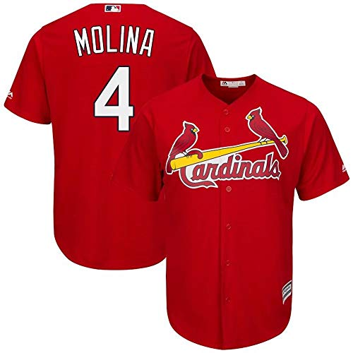 '47 Men's Baseball Jersey St. Louis Cardinals #4 Molina Name and Number T-Shirt Team Sportswear for Men Women Kids Youth