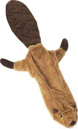 Ethical Pet Skinneeez Exotic Series 23-Inch Dog Toy, Beaver