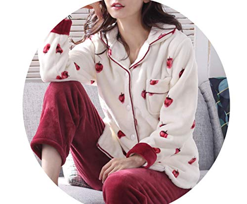 Size Home E Cute D Coral Otoño Service Velvet color B Flannel Mmings large Winter Mujer Plus Pijamas Sweet Female Thickening Suit Invierno Xx FdCWPHqw