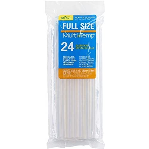 AdTech Multi-Temp Full-Size Glue Sticks for Crafting, DIY, and Home Repair | 24-Count | Item #220-11ZIP24 (America's most popular hot melt glue stick! AdTech's Multi-Temp formula is trusted by crafters and DIYers