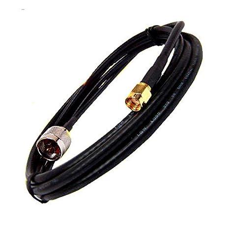 Cable de antena WiFi Conector N SMA H155PE H155 Pigtail SEÑAL RP-SMA RPSMA Largo (3m)