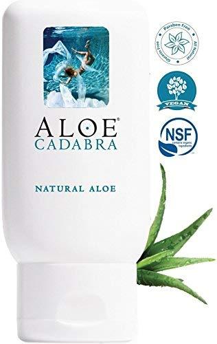 Aloe Cadabra Natural Organic Aloe Vera Personal Lubricant and Vaginal Moisturizer, Natural