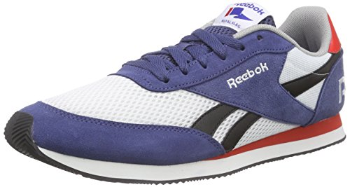 Reebok Royal Classic Jogger, Scarpe da Corsa Uomo Blu (Blau (Midnight Blue/White/Black/Motor Red/Tin Grey))