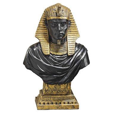 Bust Garden Statue - Ramses II Pharaoh Bust Egyptian sculpture home garden statue (the digital angel)