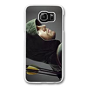 Samsung S6 Case, Galaxy S6 Case - Screatch-Resistant Crystal Clear Hard Case for Samsung Galaxy S6 Arrow Oliver Queen Stephen Amell Shock-Absorption Clear Hard Back Case for Samsung Galaxy S6
