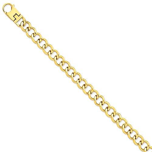 4,7 mm 14 carats fantaisie lien Chain Bracelet-JewelryWeb 8,5 cm