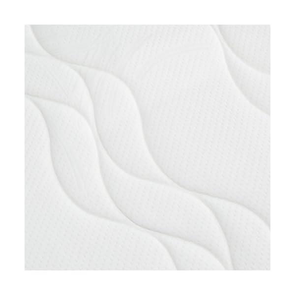 AmazonBasics - Materasso extra comfort a 7 zone in memory foam, Medio (H3) - 80 x 190 cm 2 spesavip