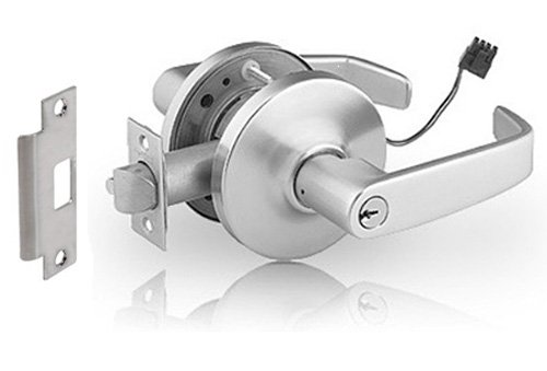 Sargent 10 Line Satin Chrome Plated Cylindrical Fail Secure Lever Lock, 24 Volt (Pack of 1) by Sargent