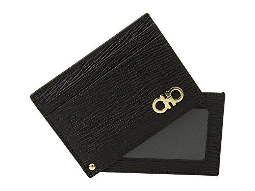 Salvatore Ferragamo Men's Revival Card Case, Black/Gold, One Size from Salvatore Ferragamo