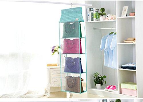 [SweetyRose Oxford Large Clear Hanging Wardrobe Closet Storage Organizer Wall Door for Purses Handbag] (File Wardrobe Cabinets)
