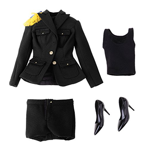 (Dolity 1/6 Female Clothes Women Soldier Uniform Set for 12'' Action Figure Hot Toys)