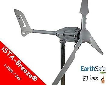 1000w/24v Generador de viento,ista-breeze i-1000 Aerogenerador,turbina MOLINO DE VIENTO (blanco)