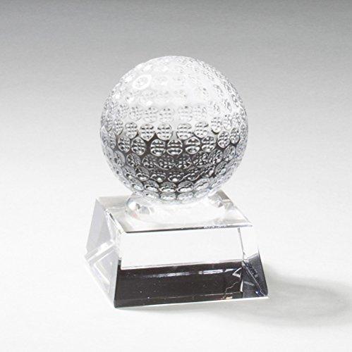 Optical Crystal Golf Award - Customizable 3-1/2 x 2-1/2 Optical Crystal Golf Ball Award on Crystal Base, Includes Personalization