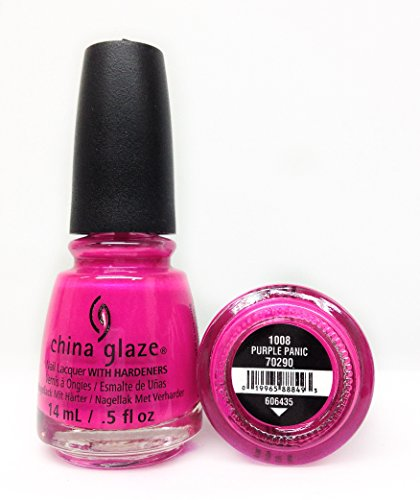 China Glaze Nail Polish, Purple Panic, 0.5 Ounce