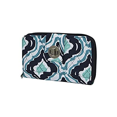 Geometric Themed Prints NGIL Quilted Twist Lock Wallet