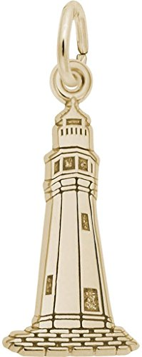 Rembrandt Buffalo, NY Lighthouse Charm - Metal - 14K Yellow (14k Gold Buffalo Charm)