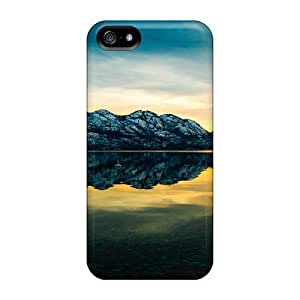New Style 5/5s Protective Cases Covers/ Iphone Cases - Lake In Monochrome Green